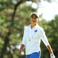 あ!マキちゃん!って会う度に言わなくても良いのよ。 2015年 日本女子オープンゴルフ選手権競技 2日目 三塚優子