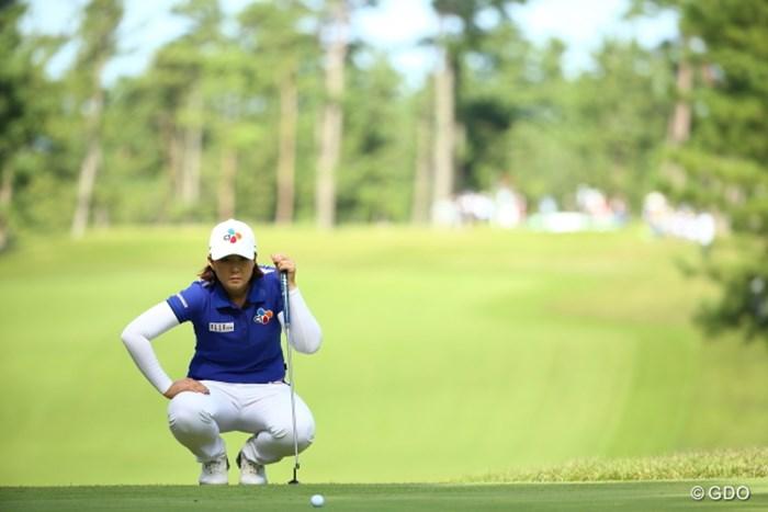いいねぇ、親方スタイルが似合う。 2015年 日本女子オープンゴルフ選手権競技 2日目 ペク・キュジョン
