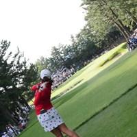 ショートホールっぽくないスイング。 2015年 日本女子オープンゴルフ選手権競技 3日目 イ・ミヒャン