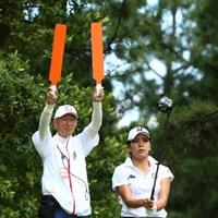 後ろ気にならない? 2015年 日本女子オープンゴルフ選手権競技 3日目 城間絵梨