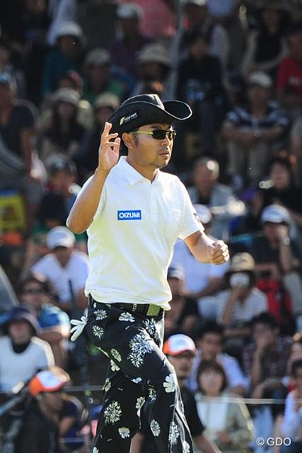 プレーオフ2ホール目で惜敗し、2013年に続く大会2勝目を逃した片山晋呉