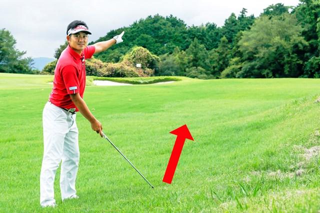 出球のイメージを十分想定してからダーゲットを決める