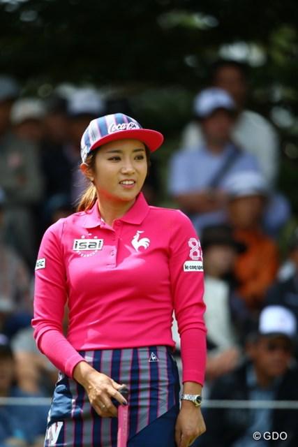 2015年 日本女子オープンゴルフ選手権競技 最終日 イ・ボミ 今日の帽子、なんか変。