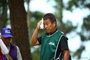 2015年 日本女子オープンゴルフ選手権競技 最終日 笠りつ子キャディ(父)