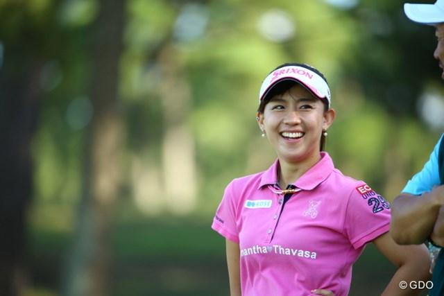 2015年 日本女子オープンゴルフ選手権競技 最終日 香妻琴乃 今日は珍しく笑顔が多かった。