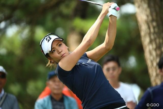 2015年 日本女子オープンゴルフ選手権競技 最終日 城間絵梨 城間プロって運動神経良さそうな雰囲気たっぷり。