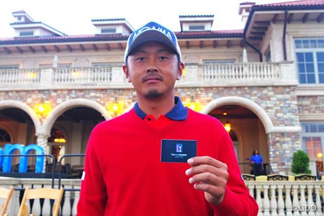 PGAツアーのメンバーカードを手に入れた岩田寛。開幕戦は2週間後だ