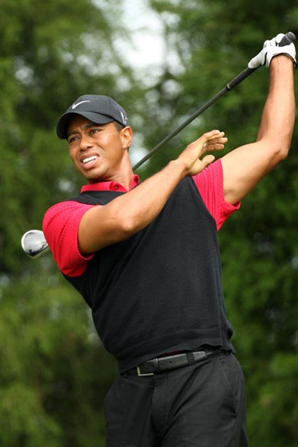 2009 全米オープン 予備日 タイガー・ウッズ 大会を通じてショット、パットともに精彩を欠いたタイガー(Ross Kinnaird /Getty Images)