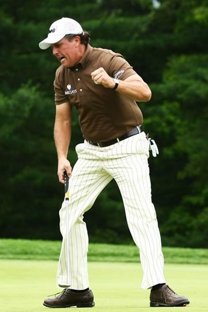 2009 全米オープン 予備日 フィル・ミケルソン グローバーと共に首位タイからスタートしたR.バーンズは、序盤でスコアを崩し早々と後退(Andrew Redington /Getty Images)