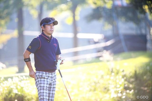 2015年 HONMA TOURWORLD CUP AT TROPHIA GOLF 2日目 深堀圭一郎 この日は47歳の誕生日。深堀圭一郎が9位で決勝ラウンドに駒を進めた