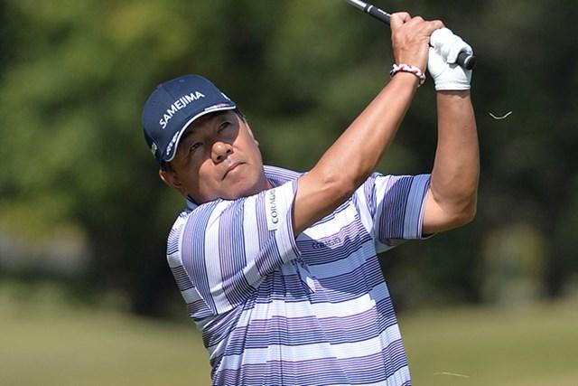 室田淳が通算7アンダーに伸ばし単独首位に立った※画像提供:日本プロゴルフ協会