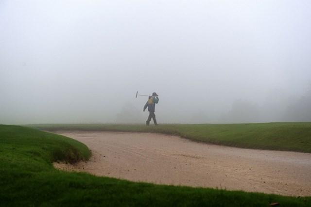 2015年 Yeangderトーナメントプレーヤーズ選手権 2日目 林口インターナショナルG&CC コースの一部エリアで霧や洪水が発生した林口インターナショナルG&CC※画像提供:Asian Tour