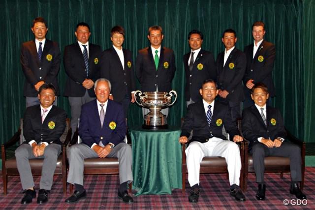 開幕前日に一堂に会した歴代の「日本オープン」チャンピオンたち