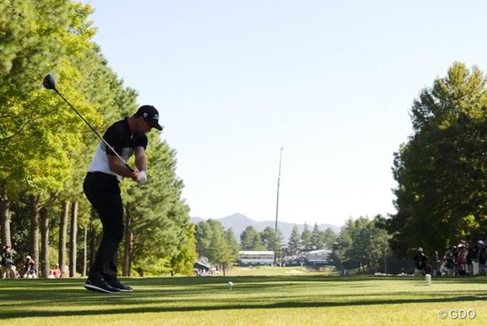 このダウンのタメと右足の蹴りが飛ばしの秘密? 2015年 日本オープンゴルフ選手権競技 2日目 アダム・スコット