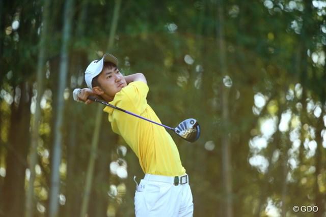 日本アマチャンピオンの金谷拓実。17歳とは思えない落ち着きぶり