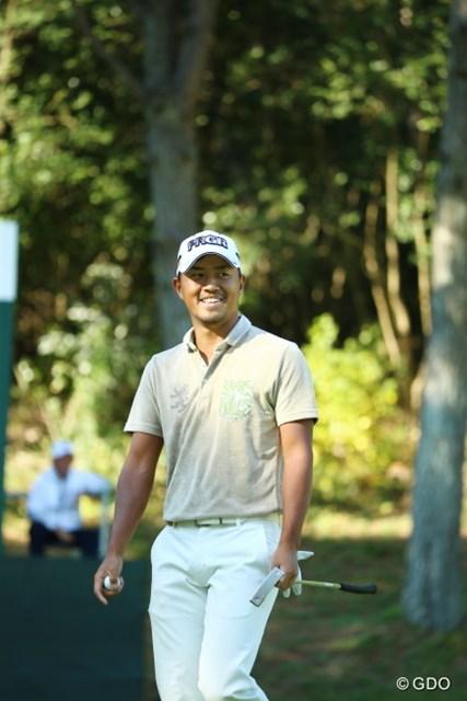 2015年 日本オープンゴルフ選手権競技 2日目 小平智 入らないと思ったボールが最後にコロン。