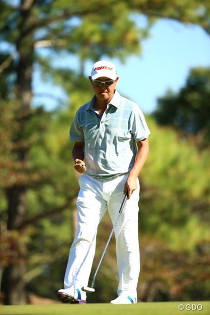 2015年 日本オープンゴルフ選手権競技 3日目 谷口徹 出遅れ感はあるけれど気合だけは連日伝わってくる。