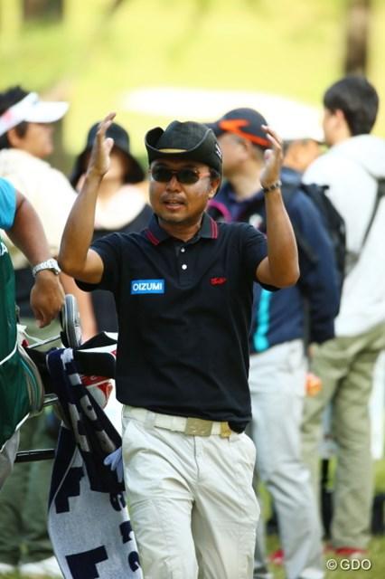 2015年 日本オープンゴルフ選手権競技 3日目 片山晋呉 このっくらいのボールだとポケット入らないね。