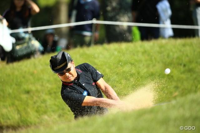 2015年 日本オープンゴルフ選手権競技 3日目 片山晋呉 バンカーショットが得意になりたい。