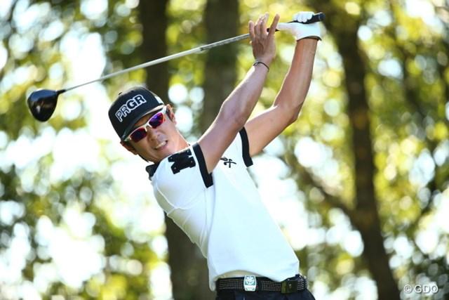 2015年 日本オープンゴルフ選手権競技 3日目 矢野東 フィニッシュで手を離すランキング5位。