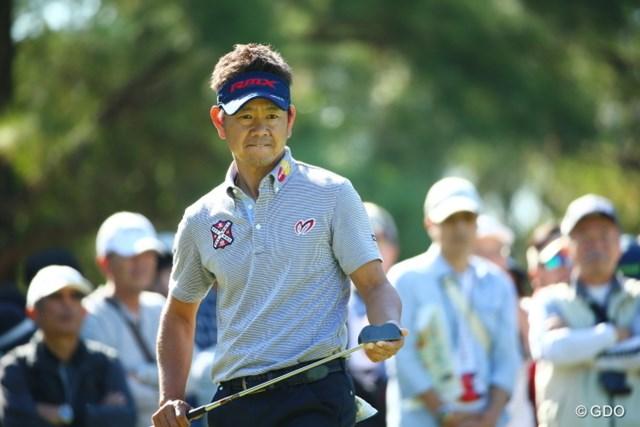 2015年 日本オープンゴルフ選手権競技 最終日 藤田寛之 ベテランの意地。順位が振るわなくても最終日にきっちりアンダーでまわってくる。