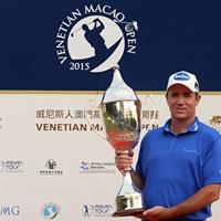 逃げ切りで優勝したスコット・ヘンド※アジアンツアー提供 2015年 ベネチアン・マカオオープン 最終日 スコット・ヘンド