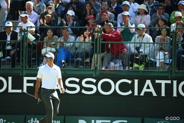 2015年 日本オープンゴルフ選手権競技 最終日 アダム・スコット 優勝こそできなかったが、アダム・スコットの一打一打は観客席を感嘆させた