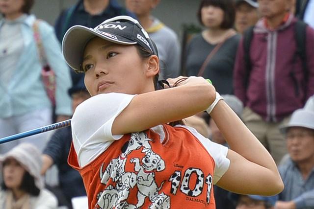 藤崎莉歩が下部ツアー初優勝を遂げた※日本女子プロゴルフ協会提供