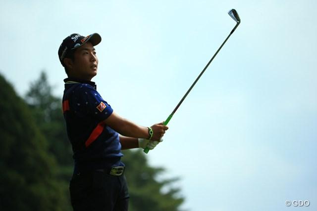 2015年 ブリヂストンオープンゴルフトーナメント 初日  稲森佑貴 試合中の目がとてもいい。