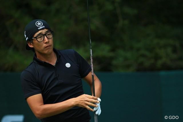 2015年 ブリヂストンオープンゴルフトーナメント 初日 J.チョイ 唯一帽子を後ろにかぶる YAMAHAは嬉しいでしょう