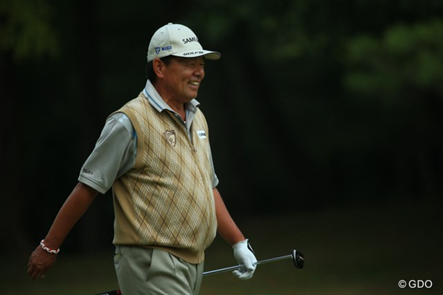2015年 ブリヂストンオープンゴルフトーナメント 初日 室田淳 少年のような笑顔