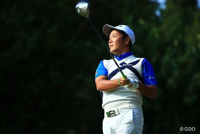 2015年 ブリヂストンオープンゴルフトーナメント 2日目 稲森佑貴 首位で決勝ラウンドに進んだ稲森佑貴は「優勝するつもりでプレーしたい」と意気込んだ