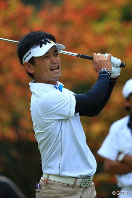 2015年 ブリヂストンオープンゴルフトーナメント 2日目 竹谷佳孝 フィニッシュで表情をゆがめながらも首位争いにとどまった竹谷佳孝