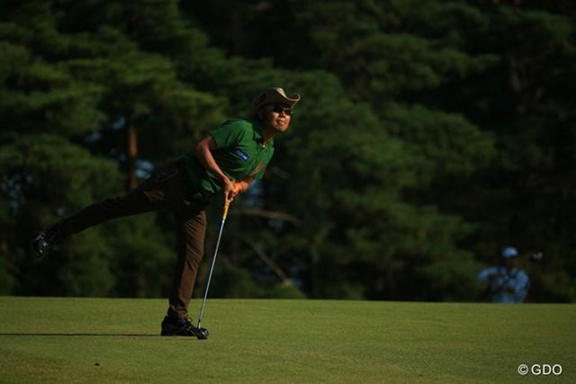 2015年 ブリヂストンオープンゴルフトーナメント 3日目 片山晋呉 グリーンにのったのかーい?