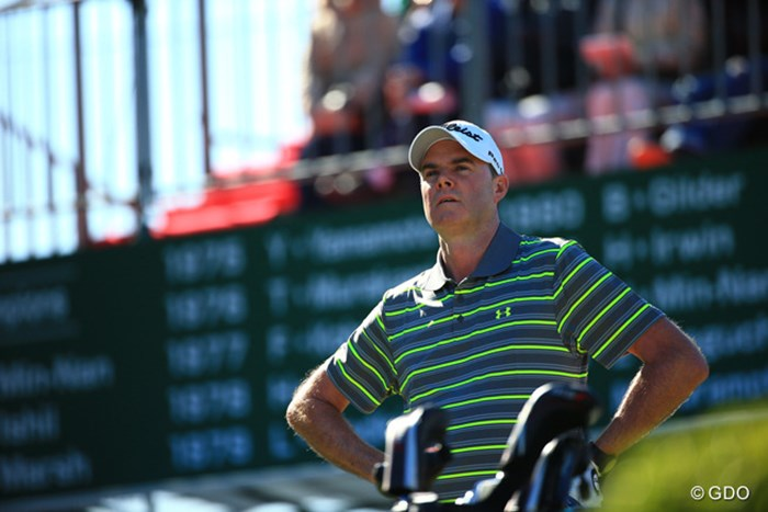 この時彼はきょう「80」とは思っていなかっただろう 2015年 ブリヂストンオープンゴルフトーナメント 最終日 デビッド・スメイル