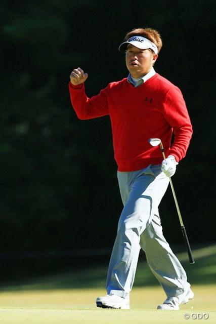 2015年 ブリヂストンオープンゴルフトーナメント 最終日 松村道央 後半16番(パー5)で優勝を呼び込むチップインイーグル!今季1勝目を飾った松村道央