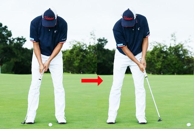 (画像8枚目) パットの目印「仮想カップ」or「スパット」、どっち?/教えて貞方章男編 フォローまでしっかり頭の位置が変わらない