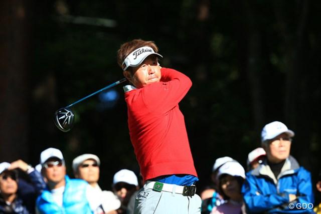 2015年 ブリヂストンオープンゴルフトーナメント 最終日 松村道央 混戦を制して今季1勝目を挙げた松村道央。世界ゴルフ選手権の出場資格も手にした