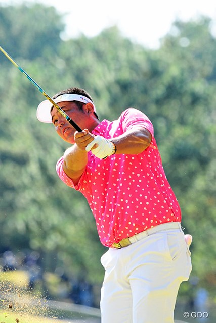 2015年 マイナビABCチャンピオンシップゴルフトーナメント 初日 小田龍一 昨年のチャンプ オダリューは、本日も奥様に見守られながら3オーバースタートとなりました。