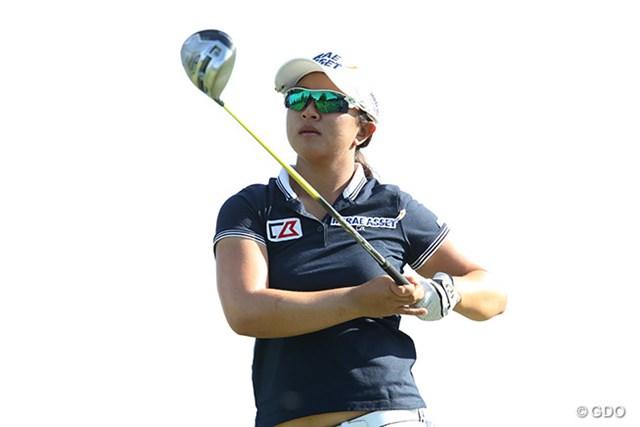 キム・セヨン 今季3勝目を狙うキム・セヨンが後続に1打差の単独首位に浮上した(※写真はKPMG女子PGA選手権 3日目)