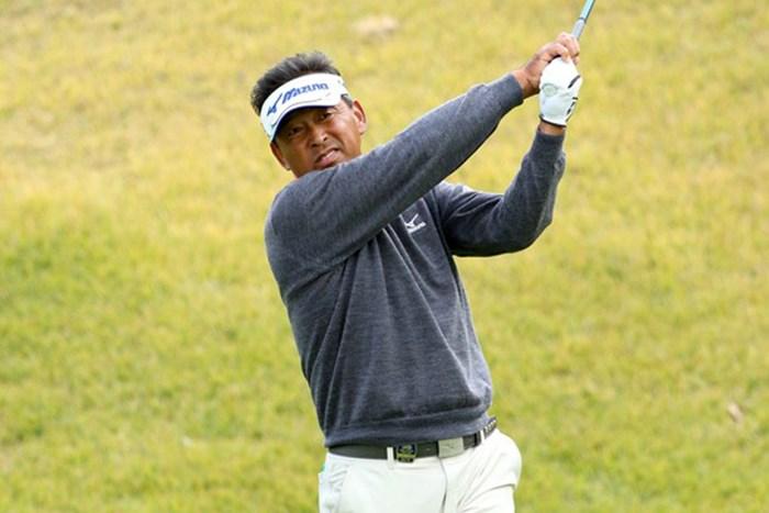 平石武則がシニアメジャーの3日目を単独首位で終えた※画像提供:日本ゴルフ協会 2015年 日本シニアオープンゴルフ選手権競技 3日目 平石武則