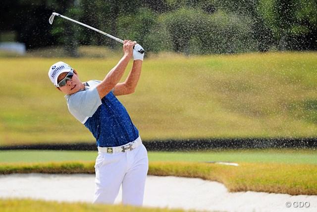 2015年 マイナビABCチャンピオンシップゴルフトーナメント 最終日 キム・キョンテ 後半3バーディで逆転。国内男子ツアーで14年ぶりの年間5勝目を決めたキム・キョンテ