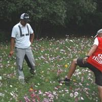 8番ではハザード内の花畑からパーセーブ。だが、にこりともしなかった岩田寛 2015年 WGC HSBCチャンピオンズ 3日目 岩田寛