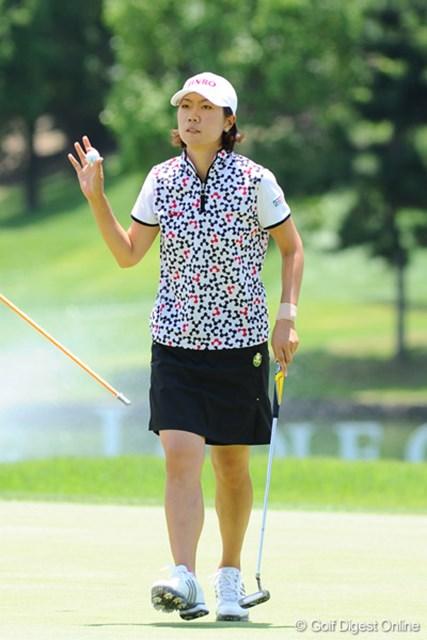 2009年 プロミスレディスゴルフトーナメント 最終日 李知姫 4ストローク伸ばすも、諸見里の勢いには及ばなかった李知姫