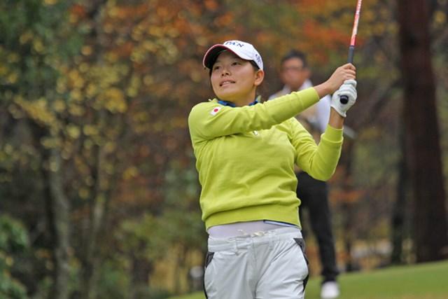 2015年 日韓親善ゴルフチーム対抗戦 最終日 勝みなみ アマ日韓戦に出場した勝みなみ。終了後は来年の抱負を語った ※画像提供:日本ゴルフ協会