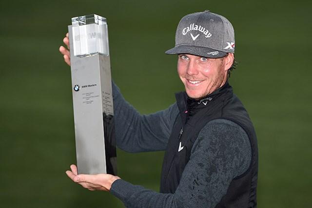 プレーオフの末ツアー初優勝を飾ったクリストファー・ブロバーグ(Getty Images Sport Ross Kinnaird)