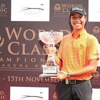ツアー初優勝を遂げた19歳の新鋭ブーンマ※アジアンツアー提供 2015年 ワールドクラシック選手権 at ラグーナ・ナショナル 最終日 ダンタイ・ブーンマ