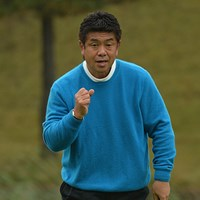 小溝高夫が6アンダーとして首位に立った※日本プロゴルフ協会提供 2015年 ISPS・HANDA CUP・フィランスロピーシニアトーナメント 初日 小溝高夫