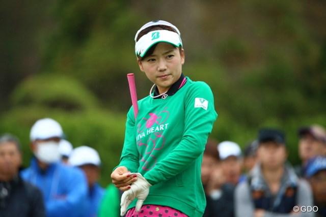 2015年 大王製紙エリエールレディスオープン 2日目 有村智恵 今日がんばらないともう今年終わってしまうのら。