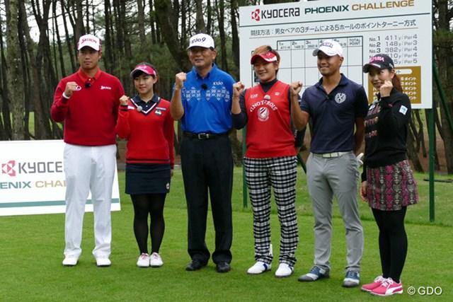 テレビマッチ収録に参加した松山、香妻、中嶋、成田、小平、笠の6人